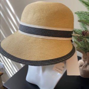Calvin Klein upf 40+/sun protective Straw Hat